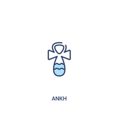 Ankh concept 2 colored icon simple line element vector