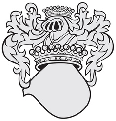 aristocratic emblem No44 vector image