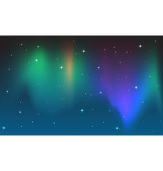 Aurora in sky vector