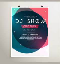 Awesome music party event flyer template with vector