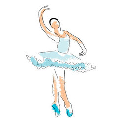 ballerina drawing vector image