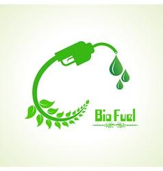 Bio fuel concept with nozzle vector image