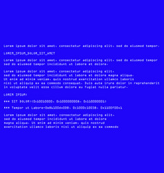Blue screen death computer error crash vector