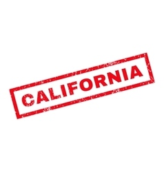 California Rubber Stamp vector