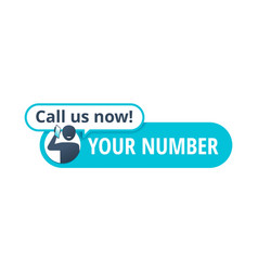 Call us now button template with talking human vector