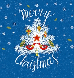 Christmas tree Merry Christmas card vector image