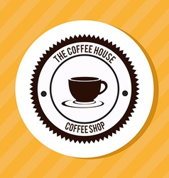 Coffee design over yellow background vector