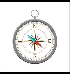 compass with wind rose isolated on white vector image
