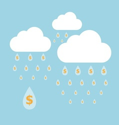 Concept idea of money raining vector image