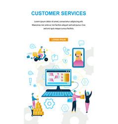 Customer service online store vector