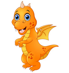 cute baby dragon standing vector image