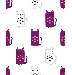 cute kitty pattern vector image
