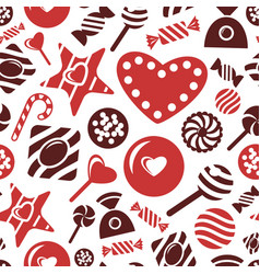 Digital red brown sweet vector