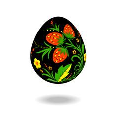 easter egg ornament khokhloma vector image