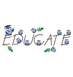 EDUCATE vector image