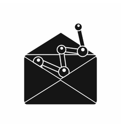 Envellope with graph icon simple style vector image