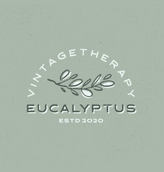 eucalyptus vintage logo icon vector image