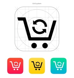 Exchange product icon vector