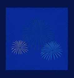 Flat shading style icon firework vector