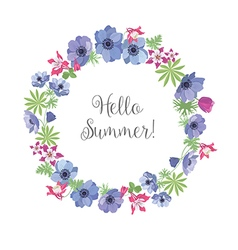 Floral Frame Summer Greeting Card Design T-shirt vector image