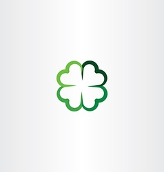 four leaf clover luck icon clip art vector image