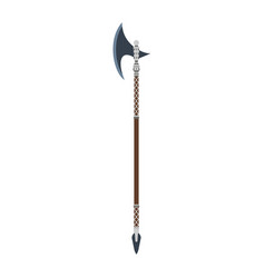 halberd weapon medieval ancient vintage old vector image