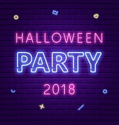 happy halloween bright signboard vector image