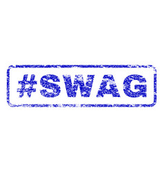 hashtag swag rubber stamp vector image