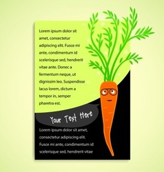 Healthcare with carrot vector image