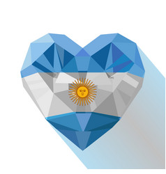 heart with the flag of the argentine republic vector image