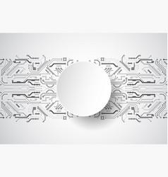 hi-tech digital technology and engineering theme vector image