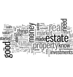 How to get started in investment properties vector