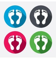 Human footprint sign icon Barefoot symbol vector image