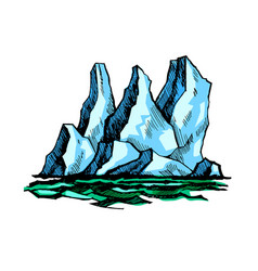 iceberg above water vector image