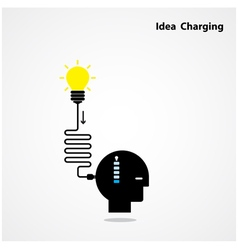 Idea charging idea concept vector image