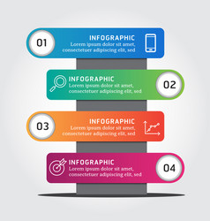 infographic label design template with icons 4 vector image