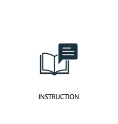 Instruction icon simple element vector