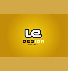Le l e alphabet letter combination digit white on vector