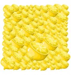 lemon background vector image