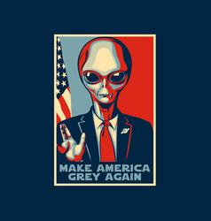 make america grey again vector image