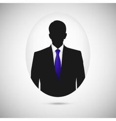 Male person silhouette profile picture whit blue vector