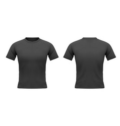 mens black t-shirt with short sleeve vector image