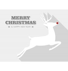merry christmas rudolph reindeer vector image