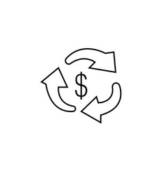 money transfer icon black on white vector image
