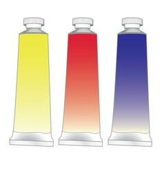 paint tubes set vector image