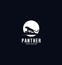panther logo design template inspiration vector image