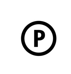parking lot icon graphic design template vector image