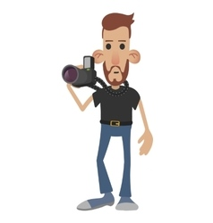 Photographer cartoon icon vector image
