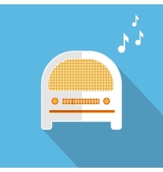 Radio music vector image