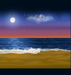realistic paradise coast early at morning vector image